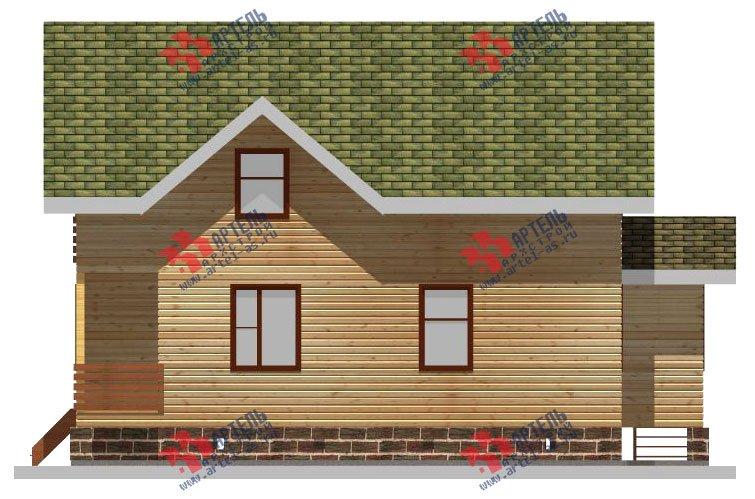 двухэтажный дом из профилированного бруса площадью от 100 до 150 кв. м. с  балконом, мансардой, эркером, проект Вариант 10 И фотография 2353