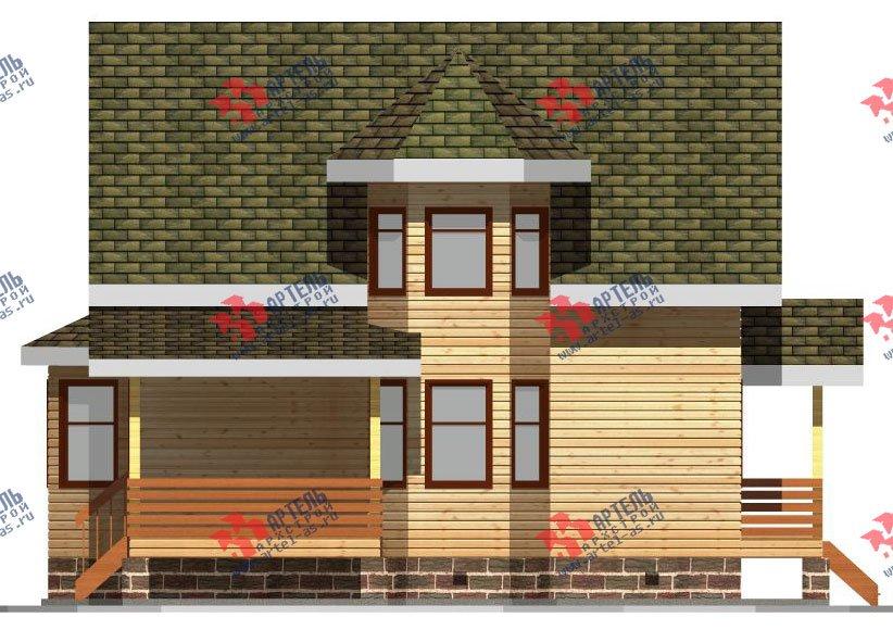 двухэтажный дом из бруса площадью от 150 до 200 кв. м. с  балконом, мансардой, террасой, эркером, проект Вариант 8 С фотография 2385