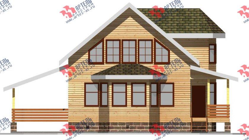 двухэтажный дом из бруса площадью от 150 до 200 кв. м. с  балконом, мансардой, террасой, эркером, проект Вариант 8 С фотография 2386