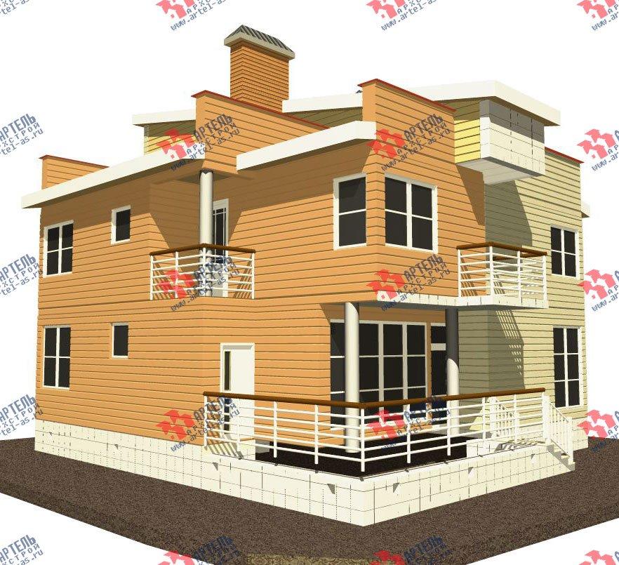 двухэтажный каркасный дом площадью свыше 200 кв. м. с  балконом, террасой, проект Вариант 3 фотография 2540