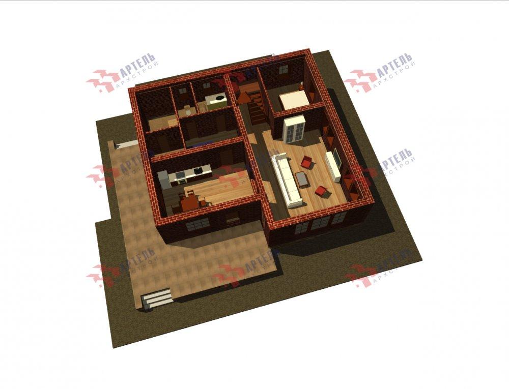 дом омбинированные дома, проект Вариант 12.6 А Комбинированный фотография 5528