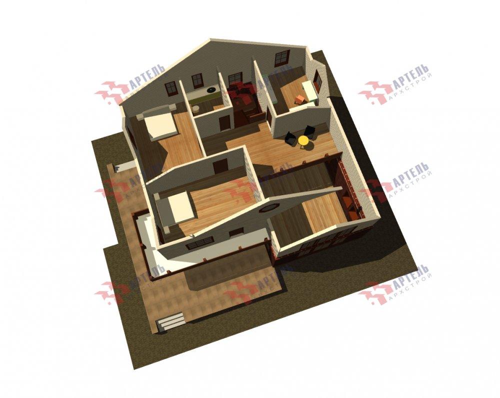 дом омбинированные дома, проект Вариант 12.6 А Комбинированный фотография 5530