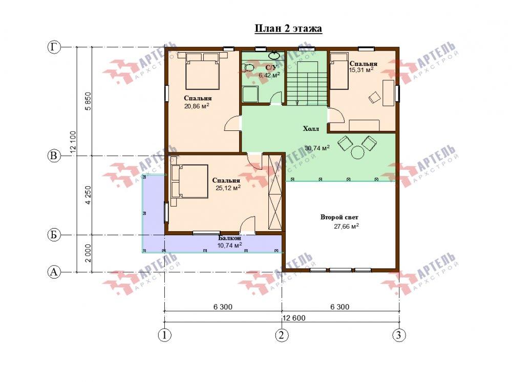 дом омбинированные дома, проект Вариант 12.6 А Комбинированный фотография 5531