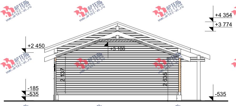 одноэтажный дом из профилированного бруса площадью от 100 до 150 кв. м., проект Вариант 7.8 Б фотография 3541