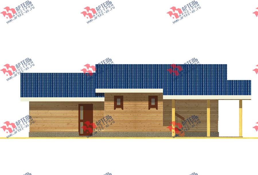 одноэтажный дом из профилированного бруса площадью до 100 кв. м. с  гаражом, террасой, проект Вариант 7.8 Б фотография 3536