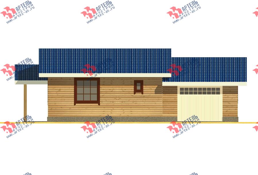 одноэтажный дом из профилированного бруса площадью до 100 кв. м. с  гаражом, террасой, проект Вариант 7.8 Б фотография 3538