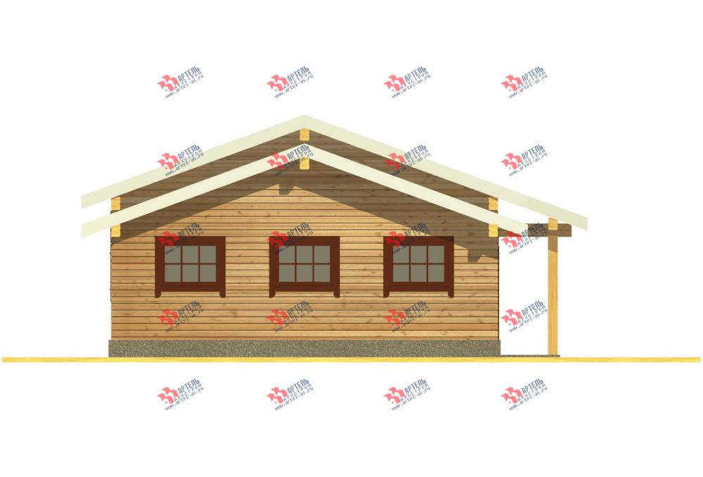 одноэтажный дом из профилированного бруса площадью до 100 кв. м. с  гаражом, террасой, проект Вариант 7.8 Б фотография 3539