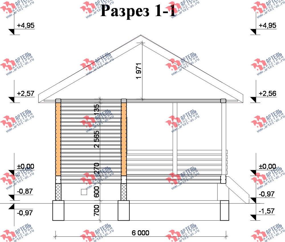 одноэтажный дом из профилированного бруса площадью до 100 кв. м., проект Вариант 6 фотография 2323