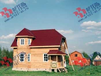 дом из профилированного бруса построенный по проекту Вариант 6 К фотография 1646