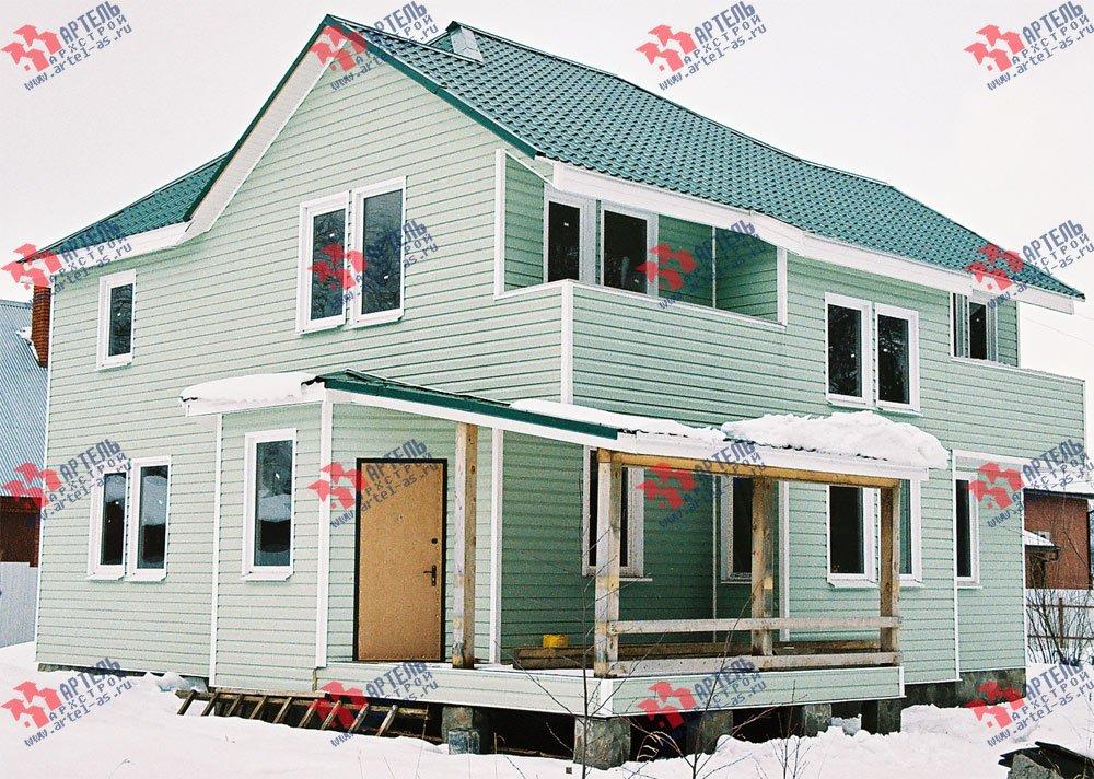 дом из профилированного бруса построенный по проекту Вариант 10.5 А фотография 3019
