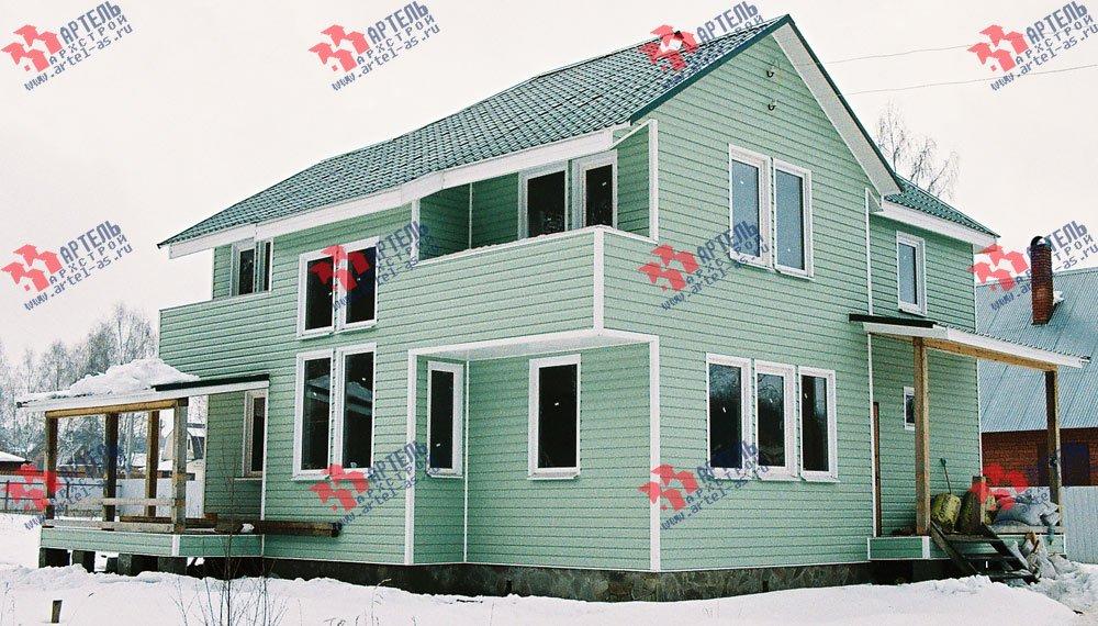 дом из профилированного бруса построенный по проекту Вариант 10.5 А фотография 3020
