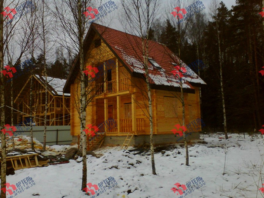 дом из бруса построенный по проекту Вариант 8 Ф фотография 3342
