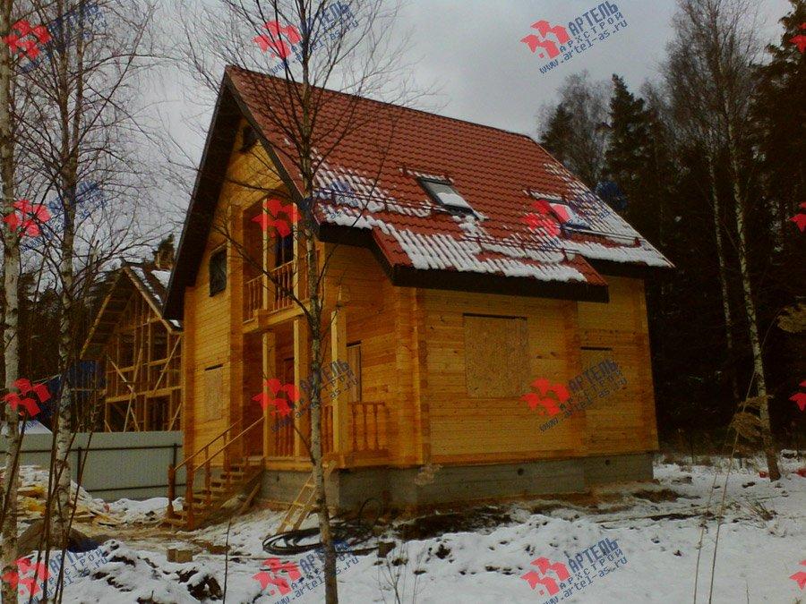 дом из бруса построенный по проекту Вариант 8 Ф фотография 3343