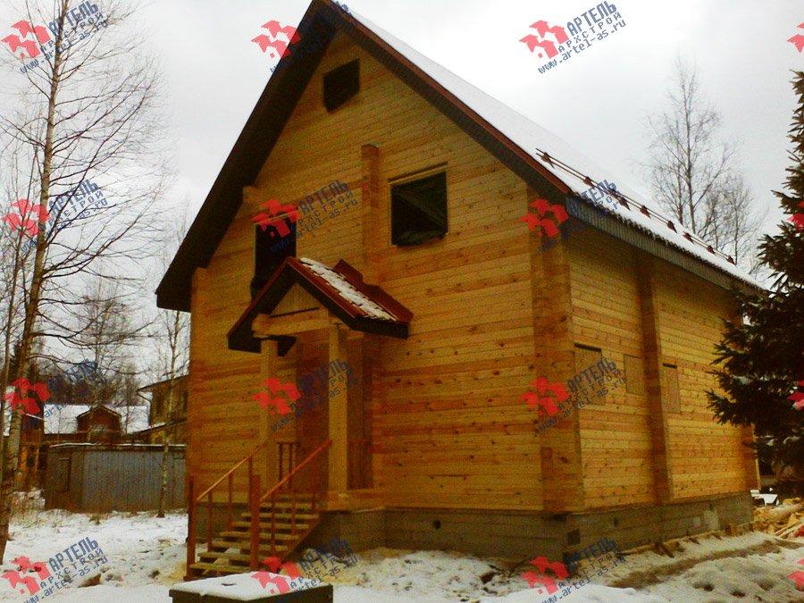 дом из бруса построенный по проекту Вариант 8 Ф фотография 3344