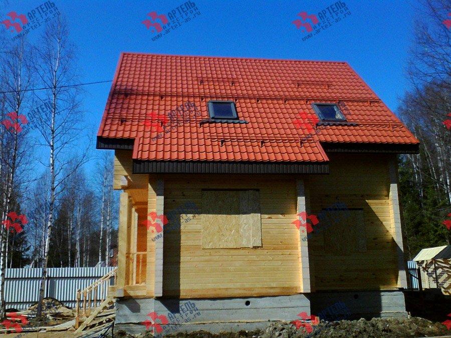 дом из бруса построенный по проекту Вариант 8 Ф фотография 3345