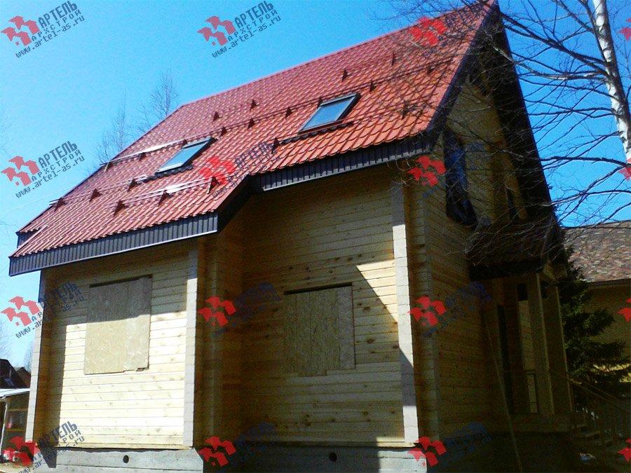 дом из бруса построенный по проекту Вариант 8 Ф фотография 3346