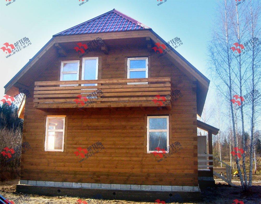 дом из профилированного бруса построенный по проекту Вариант 7.5 А фотография 1665