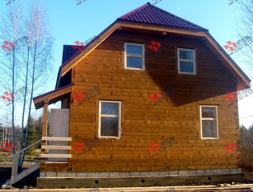 дом из профилированного бруса построенный по проекту Вариант 7.5 А фотография 1667
