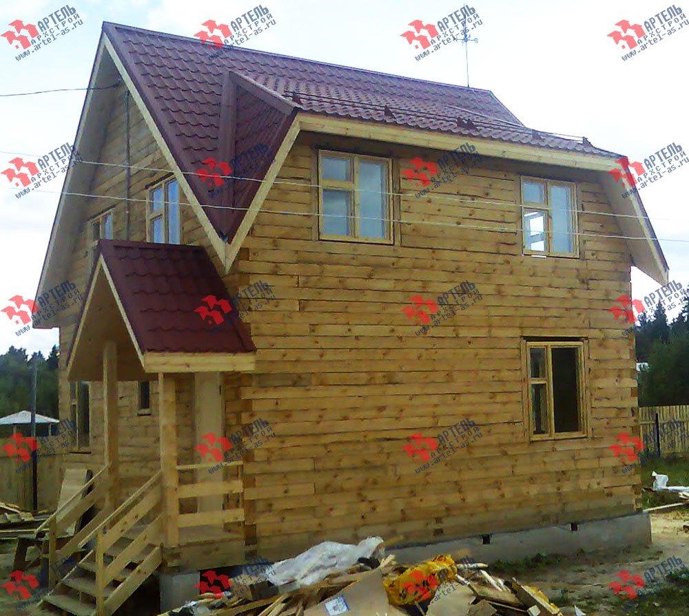 дом из профилированного бруса построенный по проекту Вариант 7 Д фотография 1679