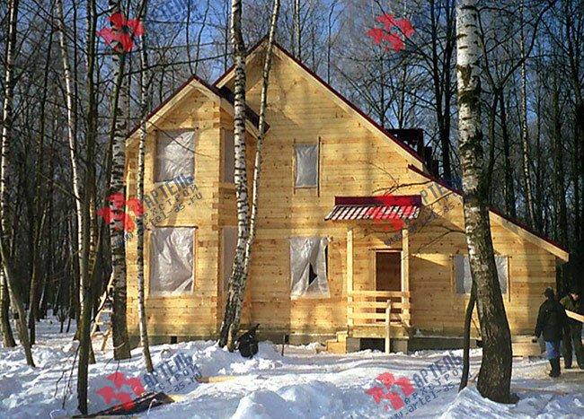 дом из бруса построенный по проекту Вариант 9 В фотография 1824