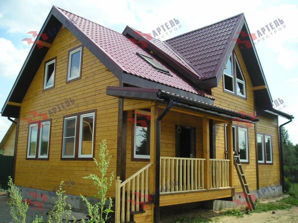 дом из профилированного бруса построенный по проекту Вариант 10.5 В фотография 5170