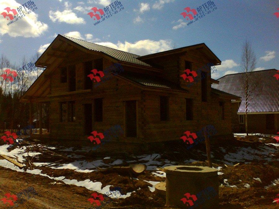 дом из профилированного бруса построенный по проекту Вариант 11 К фотография 3568