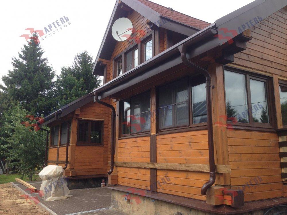 дом из профилированного бруса построенный по проекту Вариант 11 К фотография 5207