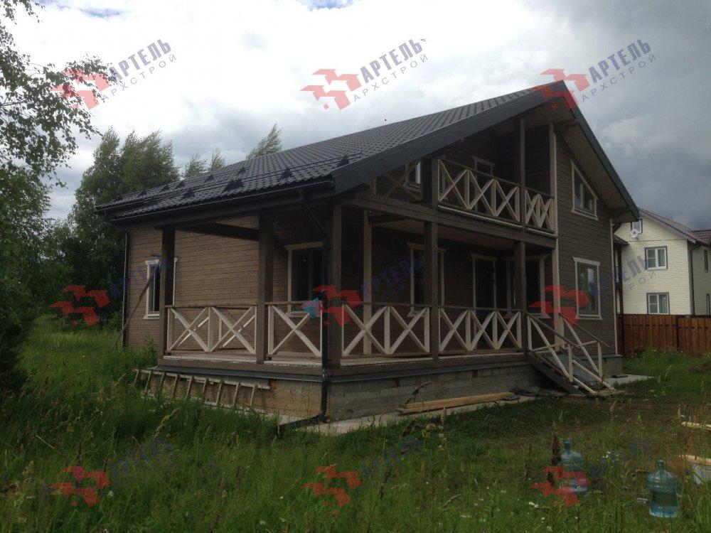 дом из профилированного бруса построенный по проекту Вариант 11 П фотография 5184