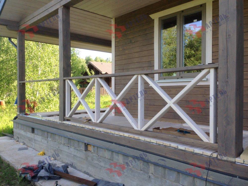 дом из профилированного бруса построенный по проекту Вариант 11 П фотография 5185