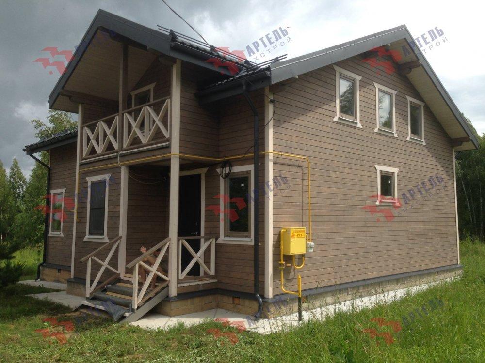 дом из профилированного бруса построенный по проекту Вариант 11 П фотография 5186