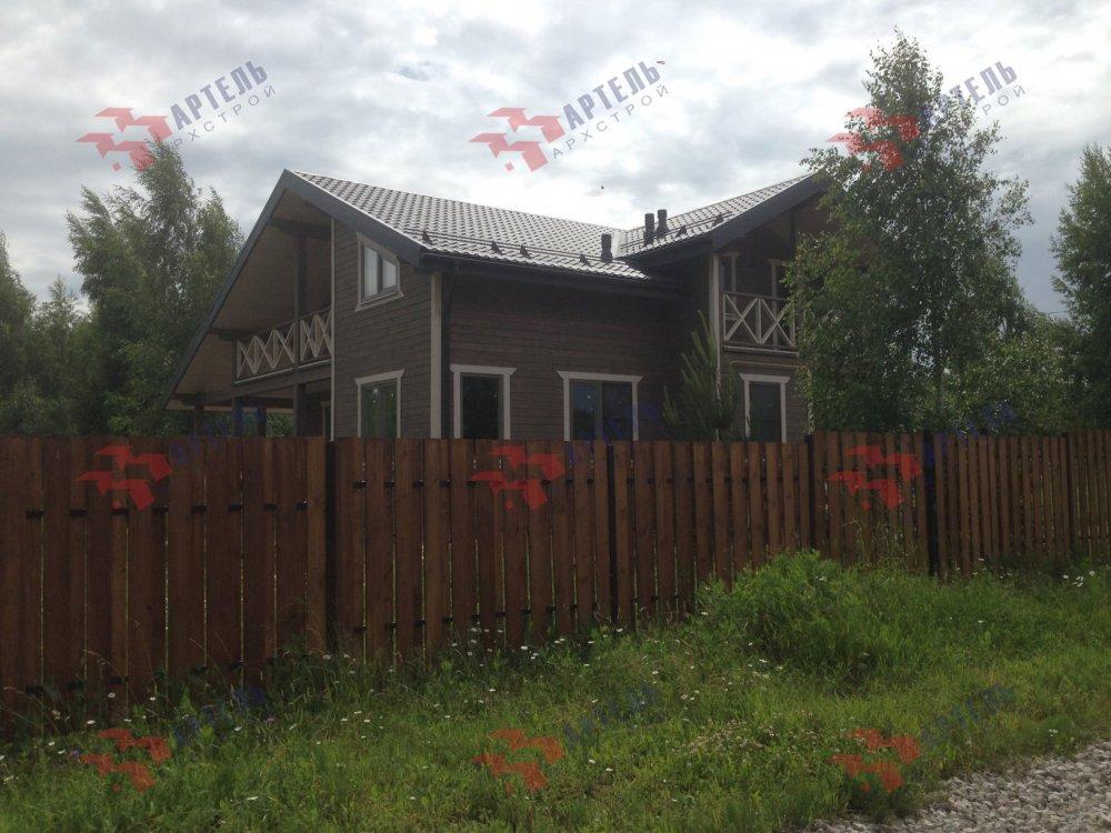 дом из профилированного бруса построенный по проекту Вариант 11 П фотография 5187