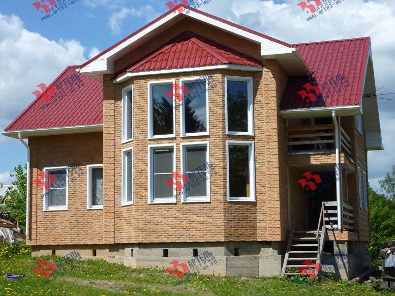 дом из профилированного бруса построенный по проекту Вариант 11 И фотография 4800