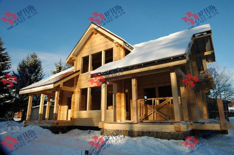 дом из профилированного бруса построенный по проекту Вариант 11 К фотография 3322