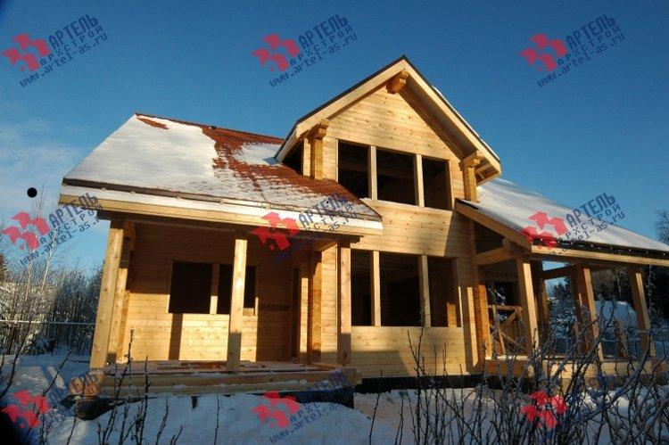 дом из профилированного бруса построенный по проекту Вариант 11 К фотография 3323