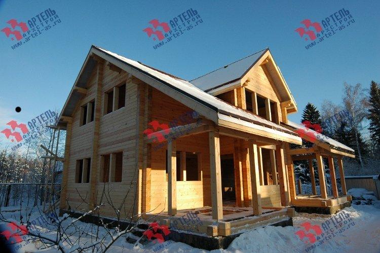 дом из профилированного бруса построенный по проекту Вариант 11 К фотография 3324