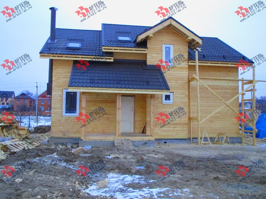 дом из бруса построенный по проекту Вариант 11 Л-2 фотография 3759