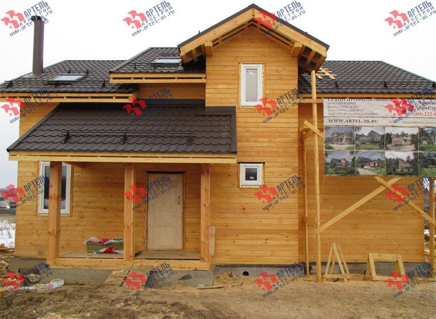 дом из бруса построенный по проекту Вариант 11 Л-2 фотография 3761