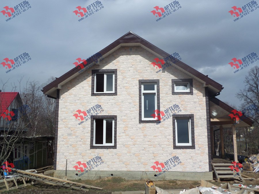 дом из бруса построенный по проекту Вариант 11 Л-2 фотография 3744