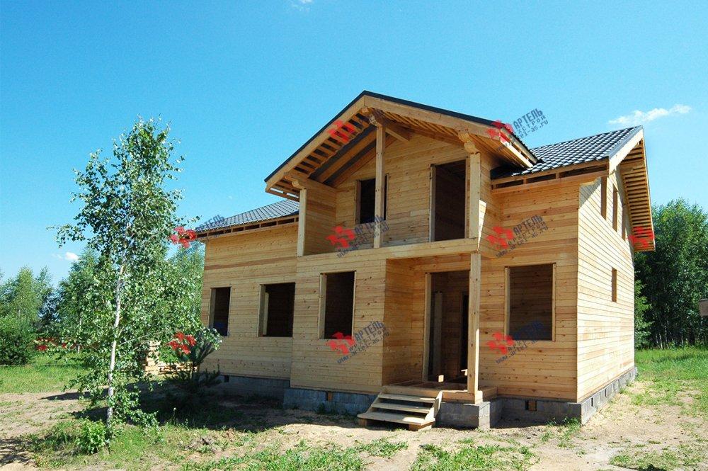 дом из профилированного бруса построенный по проекту Вариант 11 П фотография 3783