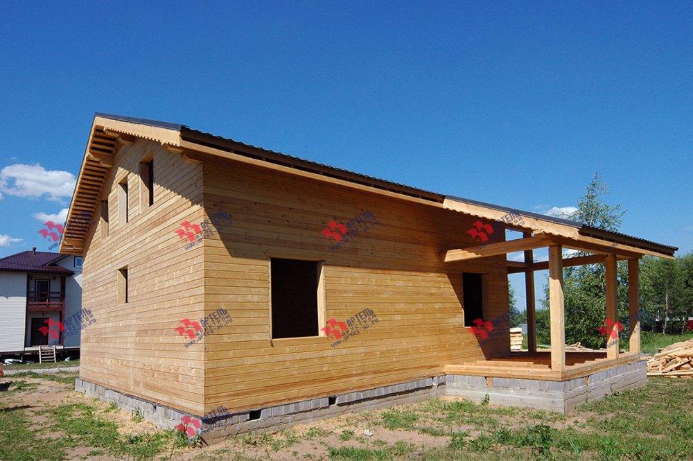 дом из профилированного бруса построенный по проекту Вариант 11 П фотография 3782