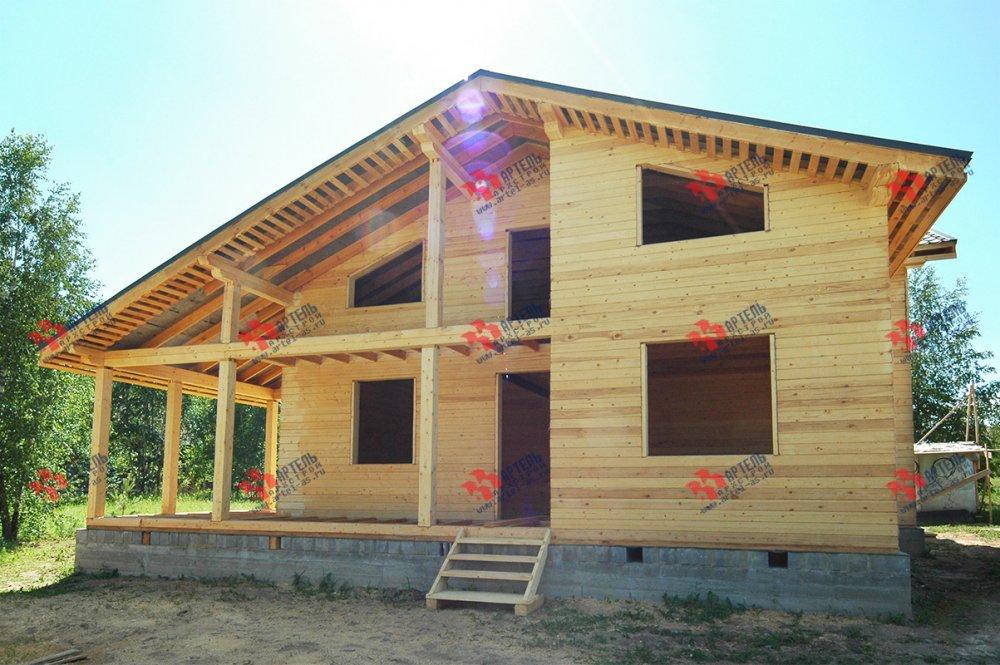 дом из профилированного бруса построенный по проекту Вариант 11 П фотография 3781