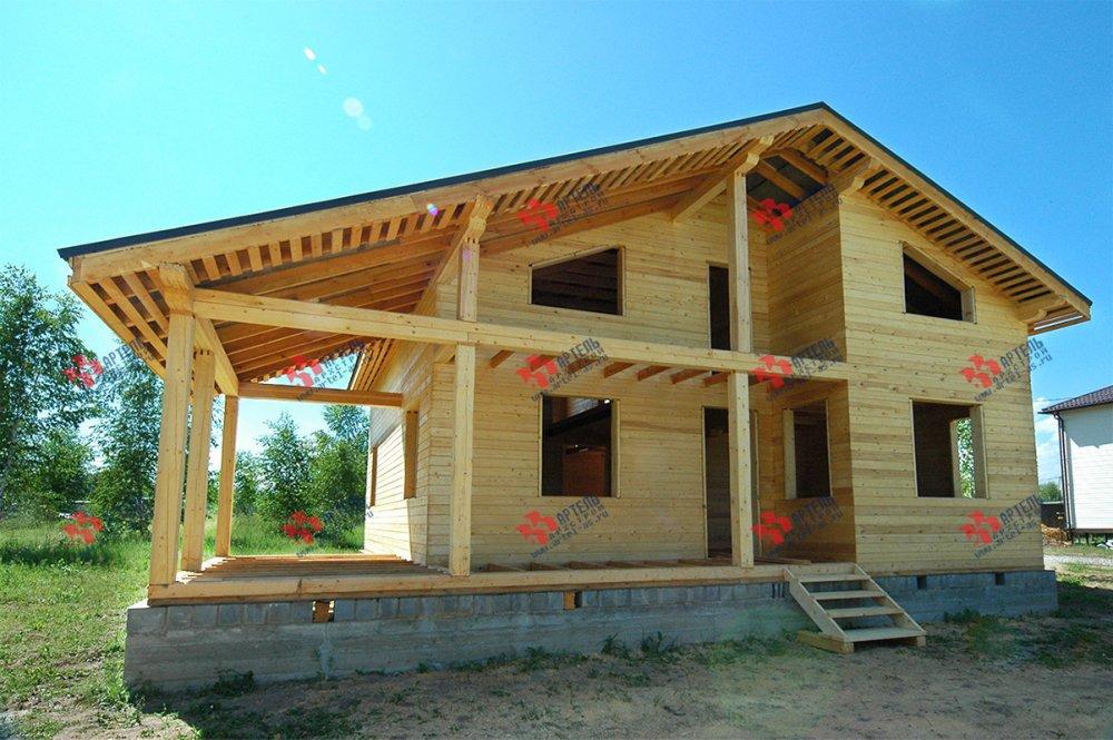 дом из профилированного бруса построенный по проекту Вариант 11 П фотография 3780