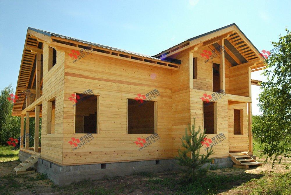 дом из профилированного бруса построенный по проекту Вариант 11 П фотография 3778