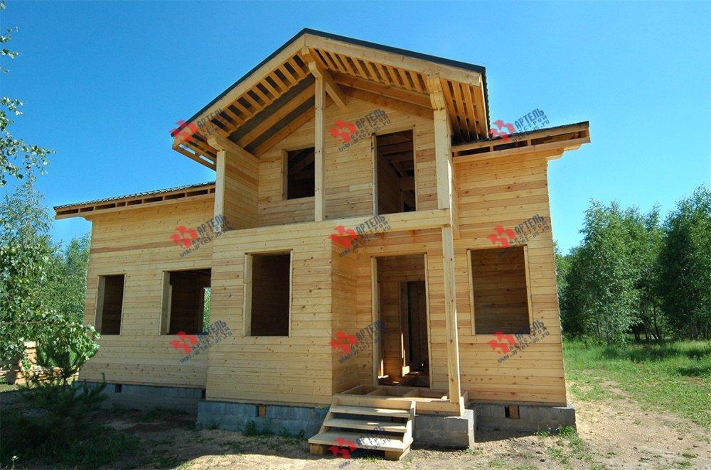 дом из профилированного бруса построенный по проекту Вариант 11 П фотография 3779