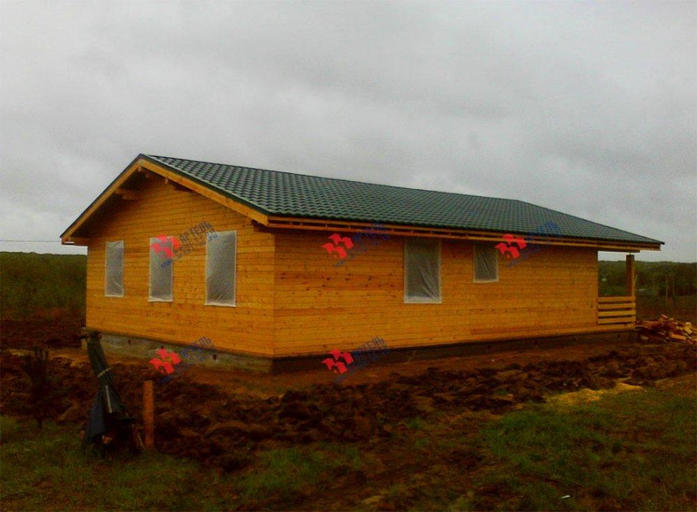 дом из профилированного бруса построенный по проекту Вариант 12.4 Б фотография 3967