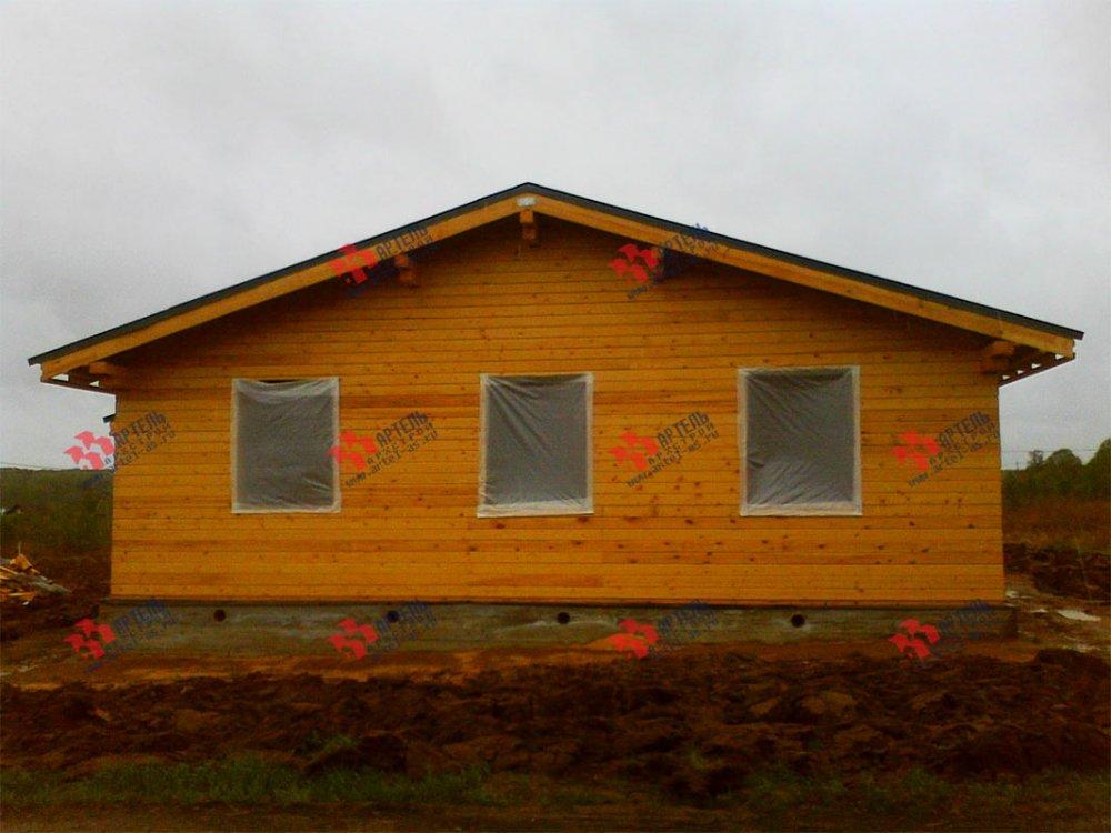 дом из профилированного бруса построенный по проекту Вариант 12.4 Б фотография 3964