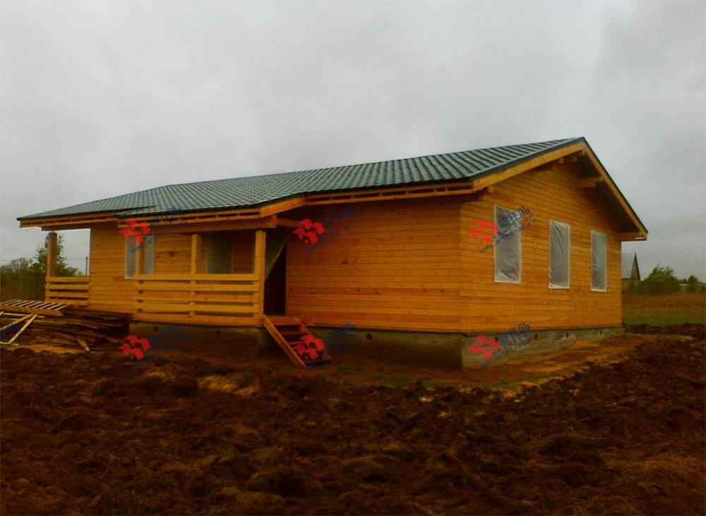 дом из профилированного бруса построенный по проекту Вариант 12.4 Б фотография 3965