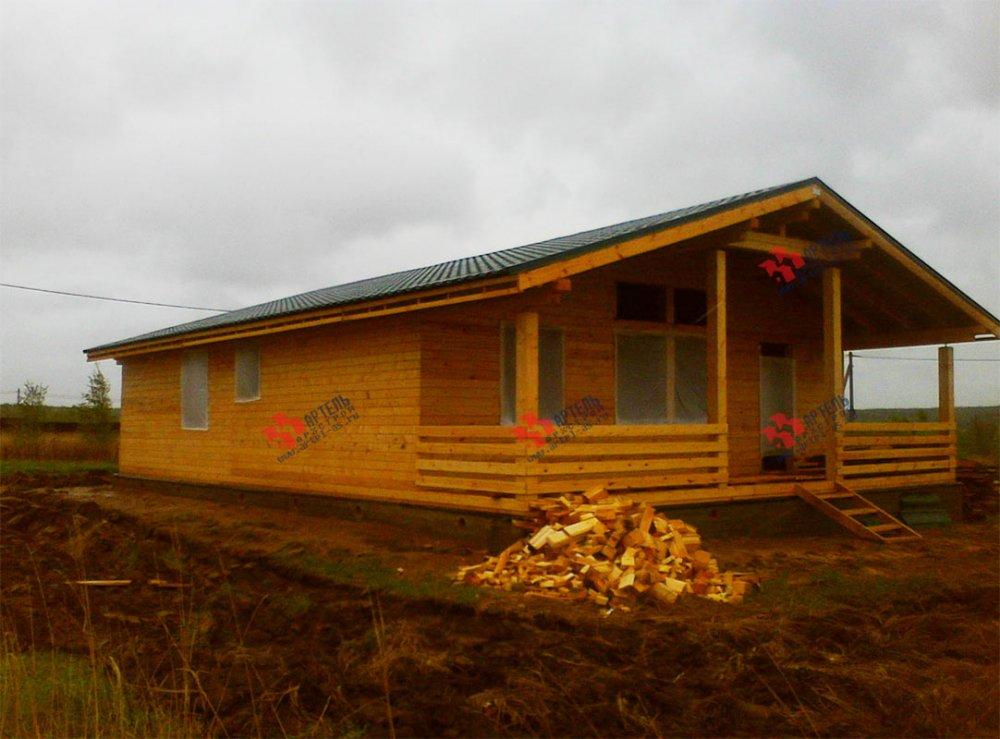 дом из профилированного бруса построенный по проекту Вариант 12.4 Б фотография 3968
