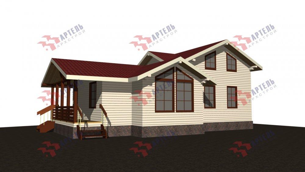 двухэтажный дом из бруса площадью от 100 до 150 кв. м., проект Вариант 13.3 А фотография 5226