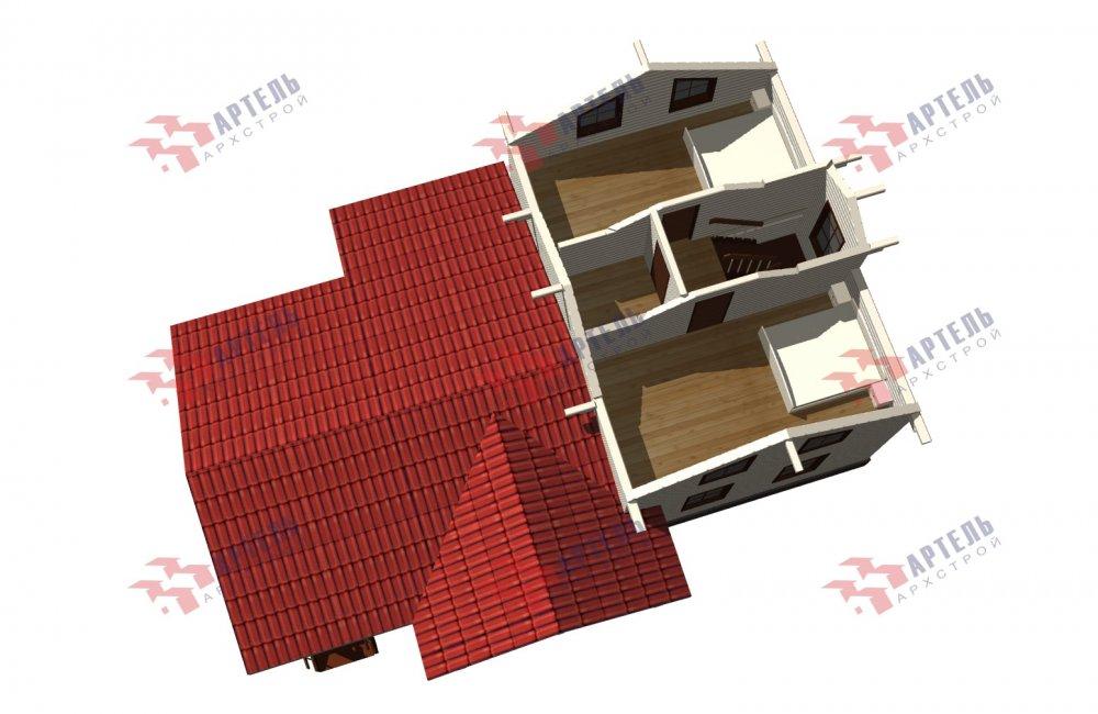 двухэтажный дом из бруса площадью от 100 до 150 кв. м., проект Вариант 13.3 А фотография 5230